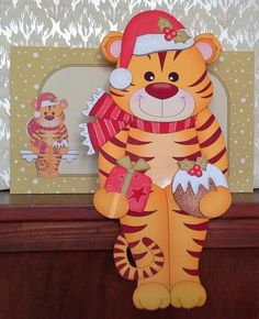 Card Gallery - 3D On the Shelf Card Kit - Little Christmas Tinker the Tiger