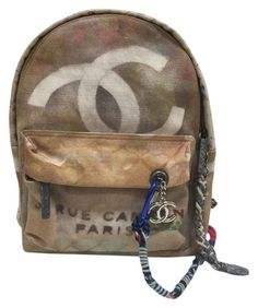 375b04fe09b1 Chanel Graffiti 2014 Runway Backpack. Get one of the hottest styles of the…  Beige