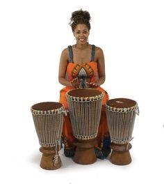 Bougarabou Drums - Set of Three