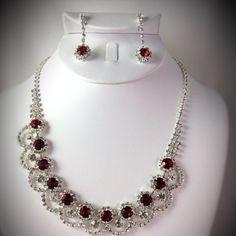 "Rhinestone Necklace Set Rhinestone Necklace Set Measurements Length: 16"" + 2""ext Jewelry Necklaces"