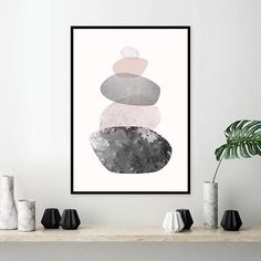 Poster download in pink and grey. Printable wall art. THESE ARE INSTANT DOWNLOADS – art you print yourself. Please see details below for more info. Your files will be available instantly after purchase. Please note that this is a digital download ONLY, no physical product will be