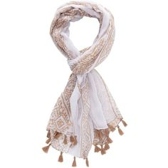 Charlotte Russe Nude Combo Printed Tassel Scarf by Charlotte Russe at... (15 AUD) ❤ liked on Polyvore featuring accessories, scarves, nude combo, lightweight scarves, charlotte russe scarves, oblong scarves, long scarves and fringed shawls