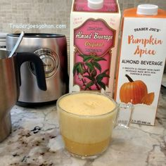 Trader Joe's | Pumpkin Spice Almond Beverage | 946 ml. $1.79 #traderjoes #pumpkinspice #almondmilk #psl  Trader Joe's | Non-Dairy Almond Beverage Unsweetened | 1.89l $2.99 #traderjoes #almondmilk #almond  Breville BMF600XL Milk Café Milk Frother    $129.95 ブレビル ミルクフローサー #breville #milkfrother