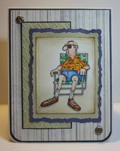 Art Impressions Stamps: perfect for Father's Day.  Norm (Sku#I1240)