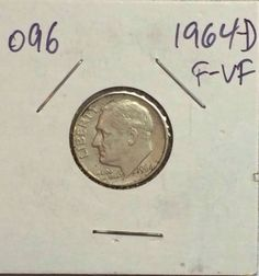 1964-D Roosevelt Dime, 90% SILVER. CIRCULATED. COLLECTION #096