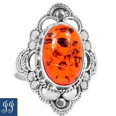 s10-69590-BALTIC-AMBER-GEMSTONE-925-STERLING-SILVER-RING-SIZE-10-JEWELRY