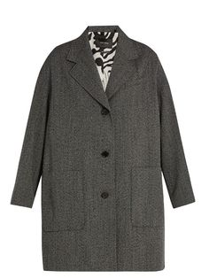 ISABEL MARANT Jagger Oversized Wool-Herringbone Duster Coat. #isabelmarant #cloth #coat