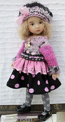 Winter-Dress-Set-2-for-Little-Darlings-Effner-13-by-Barbara.SOLD for $72.00 on 11/29/14.