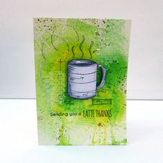 Take your mixed media techniques to card making using Dylusions, Copics, Whipped Spackle and stamps. Mixed Media Cards, Mixed Media Techniques, Stampers Anonymous, Crafty Projects, Copics, Tim Holtz, Card Making, Coffee Lovers, How To Make