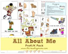 Free All About Me Printable Preschool Pack