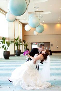 Bride & Groom in the Las Olas Foyer [Weddings at the Westin Beach Resort]