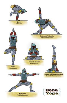 Happy Star Wars Day! May the fourth be with you. Start your day with some Boba Yoga to get your force flowing!