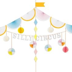 Silly Circus Party Garland by Meri Meri - Birthday Party Decorations - Party Shop Circus Theme Party, 1st Birthday Party Decorations, Circus Birthday, Party Themes, Party Kit, Party Shop, Birthday Gifts For Girls, First Birthday Parties, Birthday Bash