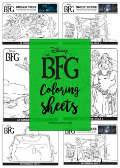 The BFG Coloring Sheets Free Printables - April Golightly Bfg Activities, Roald Dahl Activities, Library Activities, English Activities, Kindergarten Activities, 3rd Grade Books, 3rd Grade Reading, The Bfg Book, Roald Dahl Day