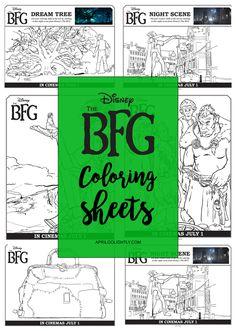 Disney The BFG Coloring Sheets free printables