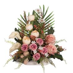 Malva, Floral Wreath, Wreaths, Home Decor, Floral, White Orchids, Bouquet Of Roses, Carnations, Memorial Park