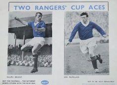 Ralph Brand & Ian McMillan Rangers Football, Rangers Fc, Ian Mcmillan, Glasgow, 1960s, Baseball Cards, Park, Sports, Hs Sports