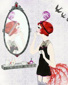 Mirror mirror   Abigail McKenzie  #illustration