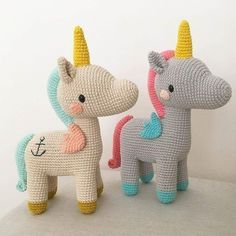 @merymad14 made the cutest unicorn brothers with the pattern by @picapauyan! Find the pattern in the book ANIMAL FRIENDS OF PICA PAU. . . Now available on Amazon or on our website. . . #animalfriendsofpicapau #crochet #amigurumi #かぎ針編み #Вязание...
