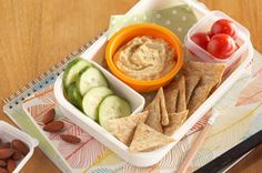Check out this simple, delicious recipe for Hummus Snack Pack