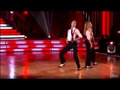 "Julianne & Derek Hough Jive to ""Shake your tail feather"""