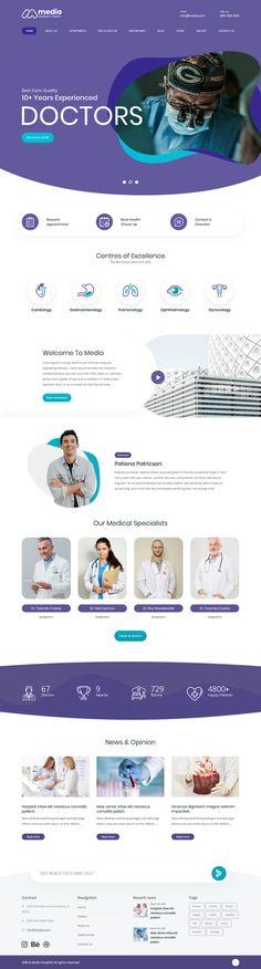 病院や医療サービスサイト構築用のシンプルで柔らかい印象のワードプレステーマ-Medio | studioDoghands