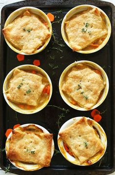 White Bean & Thyme VEGAN Pot Pies in just 10 ingredients! Savory, flaky, comforting #vegan #potpie #dinner #healthy #winter #minimalistbaker