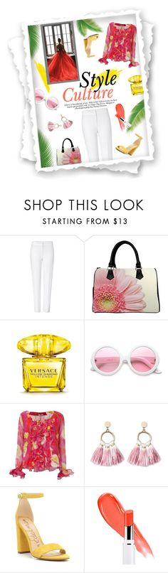 """""""InStyle"""" by eudoxiee ❤ liked on Polyvore featuring ESCADA, Versace, ZeroUV, Isolda, SUGARFIX by BaubleBar, Sam Edelman, Lancôme, summerstyle and eudoxiee"""