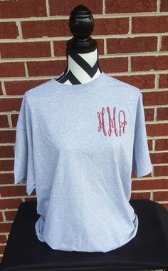 Monogrammed T-shirt. Tshirt. Monogrammed. Fancy by ElleQDesigns