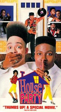 VHS: House Party [VHS] with Kid 'N Play (actor), Full Force (actor) and Reginald Hudlin (director) Love Movie, Movie Stars, Movie Tv, Movies Showing, Movies And Tv Shows, House Party Movie, African American Movies, 1990 Movies, Netflix Movies