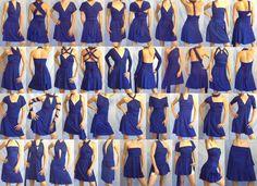 All 40 ways to wear a convertible dress / infinity dress