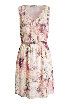Esprit / delicate chiffon dress with a glittery belt Chiffon Dress, Dress Skirt, Online Outlet Stores, Butterfly Print Dress, Kids Fashion, Fashion Accessories, Summer Dresses, Lace, How To Wear