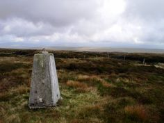 The trig point on White Hill, one of the highest in the Forest of Bowland.
