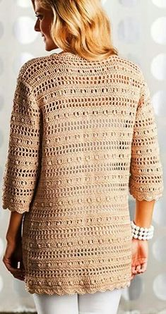 52 Wonderful and Cool Crochet Cardigan Pattern Ideas Part 10