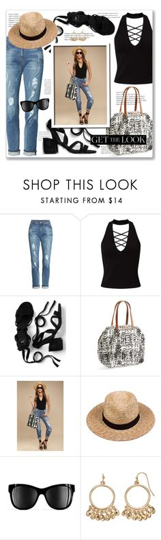 """""""Summer Street Style"""" by leanne-mcclean ❤ liked on Polyvore featuring KUT from the Kloth, Miss Selfridge, Billabong, Lack of Color, Chanel and LC Lauren Conrad"""