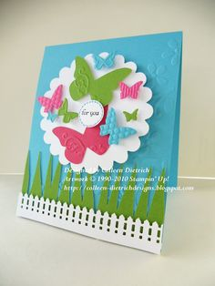 Punch art butterfly card.