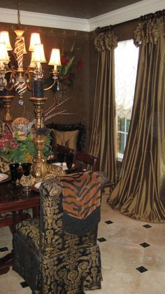 Lots Of Gold Classic CurtainsModern CurtainsLuxury CurtainsTuscan Dining RoomsFormal
