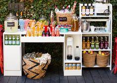 Brit + Co Beverage Station Ideas