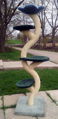 "The ""Beanstalk"" Cat Tree. Love the trunk & branches so thoroughly sisal roped wrapped for great scratching! #cat #CatTree"