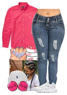 """""""Untitled #1695"""" by renipooh ❤ liked on Polyvore featuring Polo Ralph Lauren, MICHAEL Michael Kors and NIKE"""