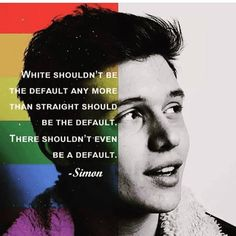Quote from Simon vs. the Homo Sapiens Agenda by Becky Albertalli. I am a Latina and straight, but this book helped me understand more so than before the importance of identifying yourself, not just if you don't fit the mold. Amor Simon, Jacques A Dit, Simon Spier, Plus Belle Citation, Pokerface, Nick Robinson, Faith In Humanity, Gay Pride, Equality