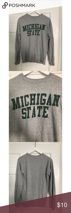 Gildan Michigan State Long sleeve Tailgate Shirt This is a piece of Michigan State apparel that is perfect for your next tailgate! It is super comfy. Gildan Tops Tees - Long Sleeve