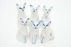 gay8:  Kaye Blegvadporcelain cats, 2014