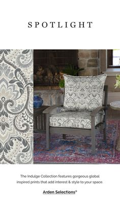 Check out these gorgeous neutral damask patio cushions! Patio Furniture Cushions, House Furniture, Patio Chairs, Furniture Sets, New Patio Ideas, Porch Ideas, Outdoor Ideas, Replacement Patio Cushions, Outdoor Deep Seat Cushions