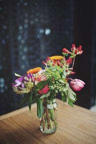 Melbourne Wedding at the Prince - flowers in mason jars