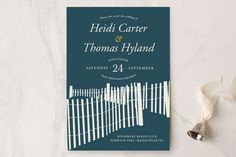 Beachside Wedding Invitations by 24th and Dune at minted.com