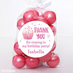 Pink Cupcake Birthday Favor Stickers - Girls Birthday Party Favor Labels - Sheet of 12 Birthday Cupcakes, Birthday Party Favors, Birthday Parties, Personalized Stickers, Personalized Favors, Cupcake Favors, Pink Cupcakes, Pink Parties, Party Favor Bags