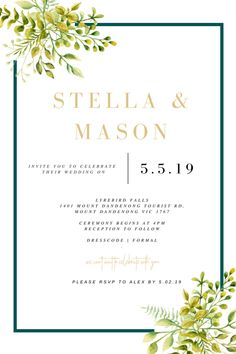 Invitations starting from just $3.50! Bespoke Design, Special Day, Rsvp, First Love, Reception, Ivory, Invitations, Celebrities, Party