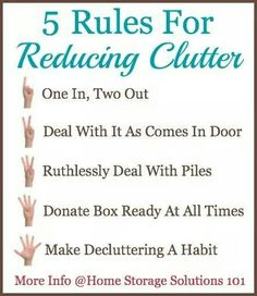 5 Rules For Reducing Clutter