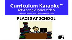 'PLACES AT SCHOOL' (Grades is a professionally produced, curriculum-aligned song that helps young students to identify the various school areas, and the activities that occur there. School Week, School Grades, School Days, Songs Website, Learn Animation, Video L, Poetry Lessons, Free Lesson Plans, Student Reading